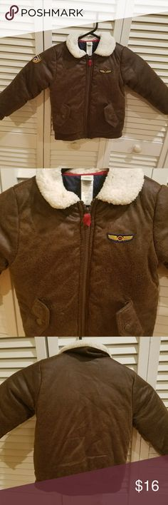 Kids Bomber jacket by Me Too Me Too faux leather bomber jacket. Size 4t. 2 front snap pockets. me too Jackets & Coats Puffers