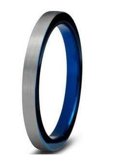 """I love this blue tungsten carbide wedding ring! Oh, first 30 people to pre-order the ring can use this 30% OFF promo code """"Bluering4mm"""" I think there is a few left."""