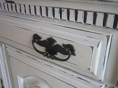 buffet....dresser--distressed white with glaze - DIY instructions