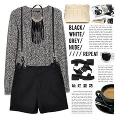 """""""BLACK/WHITE/NUDE/GREY"""" by emmas-fashion-diary ❤ liked on Polyvore featuring MANGO, CourtShop, Chanel, CHARLES & KEITH, 3.1 Phillip Lim, Acne Studios, Burberry and NARS Cosmetics"""