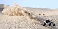 sand rail in desert | Desert storm: A sand rail kicks up the terrain at Oldsmobile Hill at ...