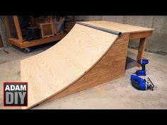 How to build a Skate Ramp / Quarter Half Pipe Build Your Own Skateboard, Build A Scooter, Scooter Ramps, Bmx Ramps, Skateboard Room, Skateboard Ramps, Skate Wallpaper, Half Pipe Plans, Skate Logo