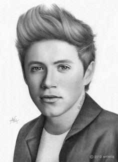 Niall Horan painting :x
