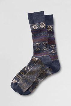 Men's Pattern Fair Isle Socks from Lands' End