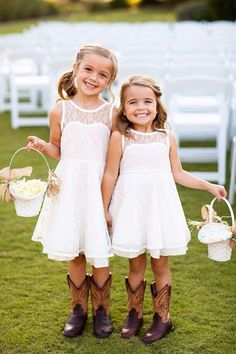 adorable flower girls so cute  simple but just adorable