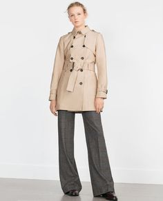 Image 1 of COTTON TRENCH COAT from Zara