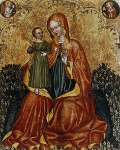 Anonimo , Maestro del Trittico di Imola - sec. XV - Madonna con Bambino; Annunciazione - insieme