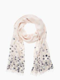 Kate Spade pailettes scarf