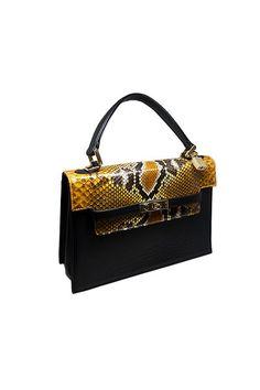 Imperio Luna Big Yellow & Black handbag