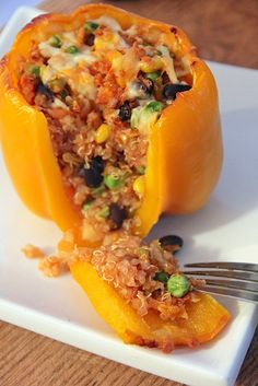 Quinoa Stuffed Peppers-Yes! The boys will be SO excited ;)