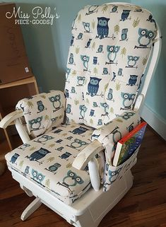 How to Reupholster a Glider Rocker Cushion Recover Glider Rocker, Glider Rocker Cushions, Rocking Chair Cushions, Rocking Chair Nursery, Diy Chair, Seat Cushions, Swivel Chair, Glider Slipcover, Slipcovers