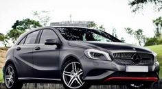 Mercedes-Benz A-Class matte with red accents from DC Design | Rush Lane