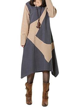 Generic Women's Long Sleeve Cotton Linen Dress Shift Dress With Irregular Hem Generic http://www.amazon.com/dp/B00Q4Y89KE/ref=cm_sw_r_pi_dp_RIsDub12J0ZEJ