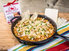 Skillet Enchilada Dip - Mix with 1 cup of mayonnaise, and 1 cup of sour cream. | From the Land of Kansas.