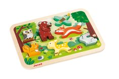 Janod Chunky Stand Up Puzzle - 7 Piece Colorful Wooden Forest Animal Themed Jigsaw Puzzle - Encourages Shape Recognition, Dexterity, and Language Development - Preschool Kids and Toddlers 18 Months+ Wooden Puzzles, Jigsaw Puzzles, Toddler Toys, Baby Toys, Kids Toys, Puzzles For Toddlers, Toddler Puzzles, Language Development, Exercise For Kids