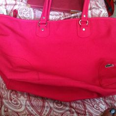 Lacoste bag Lacoste Hot Pink huge AUTHENTIC .... Lacoste Bags
