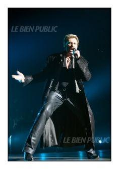 Johnny Hallyday en concert à Dijon le 12 février 2007