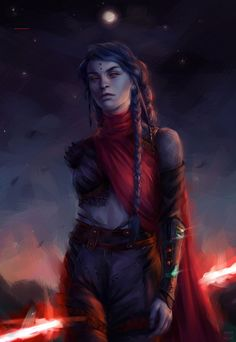 f Druid Leather Armor Staff Night full moon farmland hills female Sith by AnnaHelme DeviantArt lg Images Star Wars, Star Wars Characters Pictures, Fantasy Characters, Female Characters, Star Wars Sith, Rpg Star Wars, Star Citizen, Star Wars Episode 5, Character Portraits