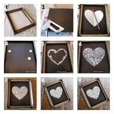 DIY Button Heart Canvas