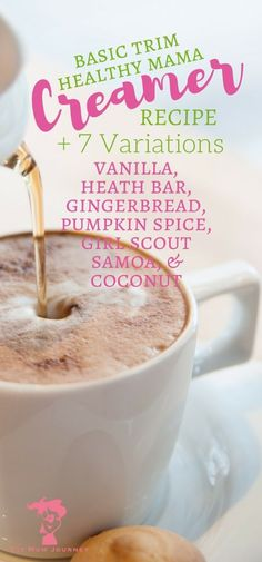 Basic THM Coffee Creamer - Coffee Creamer - Ideas of Coffee Creamer - Love coffee and Trim Healthy Mama? Well I've got a Trim Healthy Mama Coffee Creamer recipe 7 variations including Pumpkin Spice Caramel and Samoa that don't disappoint! Homemade Coffee Creamer, Coffee Creamer Recipe, Healthy Coffee Creamer, Paleo Coffee, Fresco, Trim Healthy Mama Plan, Salty Snacks, Chips, Thm Recipes
