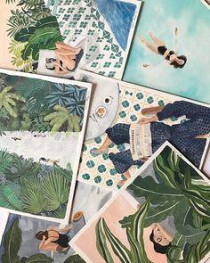 ohkii studio — Sending some of these off today ✈️ (at Greenpoint. Art Inspo, Inspiration Art, Guache, Art Et Illustration, Poster S, Art Design, Anime Comics, Aesthetic Art, Illustrations Posters