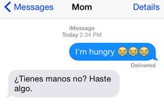 When you have to fend hunger off all on your own: | 15 Texts That Are Way Too Real For Anyone With A Latina Mom