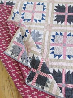 Antique Civil War Era QUILT 78 x 78 Beautiful Fabrics Bear Paw Primitive Country