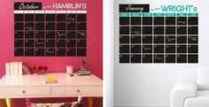 Large Personalized Chalkboard Calendar—5 FREE chalkboard labels included with your order | Jane