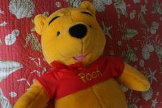 Hug Me...Winnie The Pooh Talking Stuffed Animal by VintagebyViola on Etsy, $99.00