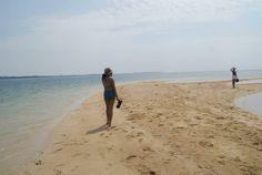 Long sand bar in Palawan, Philippines