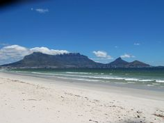 Cape Town' majestic Table Mountain taken from Bloubergstrand