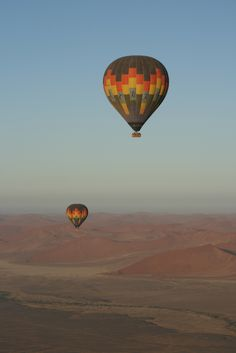 Experience a Hot Air Baloon in Sossusvlei with BelAfrique - Your Personal Travel Planner www.belafrique.co.za