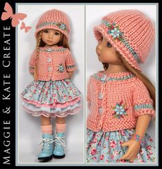 """** SPRING ** Outfit Little Darlings Dianna Effner 13""""  Maggie & Kate Create #DiannaEffner"""