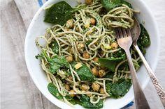 Receita – Spaguetti com molho pesto e limão
