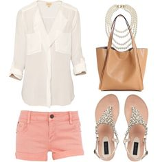 summer outfit--with printed heels by night, Steve Madden sandals by day