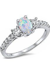 Created Opal Ring Sterling Silver Round Cabochon 0.50 Carats Sizes 5 to 9 from $44.99 by Amazon BESTSELLERS