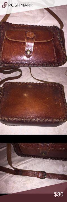Selling this Ladies vtg bohemian tooled leather shoulder bag on Poshmark! My username is: kathyskashkrop. #shopmycloset #poshmark #fashion #shopping #style #forsale #Handbags