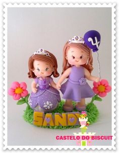 Topo de bolo personalizado tema princesa.    Feito sob encomenda