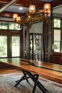 Black resin and walnut dining table #rivertable #resintable #diningtable Live Edge Furniture, Furniture Design, Walnut Dining Table, Resin Table, Studio, Black, Products, Rustic Wood Furniture, Black People