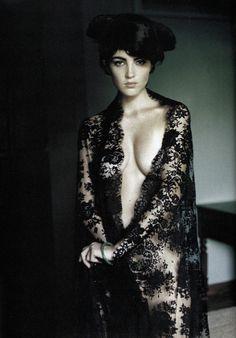 "Chandra North in ""Séville en Mantille"" by Mario Testino for Vogue Paris November 1995"