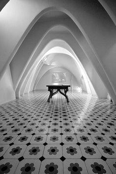 Interior of Casa Batllo in the Gracia District, Spain, Barcelona - designed by Antoni Gaudi