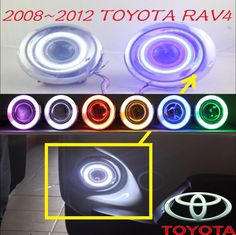 Car turn light,RAV4 fog lamp,2008~2012,chrome,Free ship!2pcs,RAV4 head light,car-covers,Halogen/HID+Ballast;RAV4