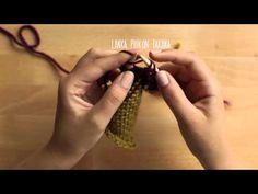 Neulomisen alkeet: oikea ja nurja silmukka sekä pudonneen silmukan nosto - YouTube