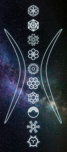 Sacred Geometry 10 Symbols of Burning Man by Wick, based on The Ten Principles. #10symbols #sacredgeometry #burningman
