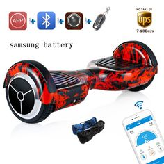138.00$  Buy now - http://ali9yr.shopchina.info/go.php?t=32763299965 - Led light on 2 wheels Samsung battery APP electric scooter self balance oxboard overboard skateboard mini skywalker hoverboard   #buyonlinewebsite