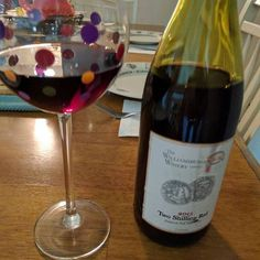 Williamsburg Winery's Two Shilling Red. This medium bodies red blend has earth leather and cherry on the nose and plenty of fruit on the palate. It pairs well with salty foods little meat snacks on crackers pinky in the air and things with mustard on it (although no one here seems to agree with me on that). #wine http://ift.tt/2hxKiyj