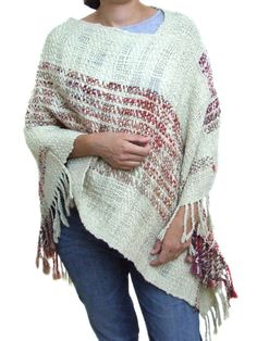 Handwoven poncho. Thick and thin wool. 100 percent wool. Warm and soft. For cold days. Poncho shawl. For her.