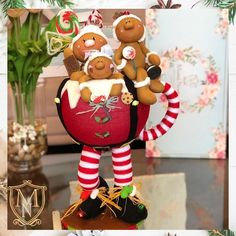 Gingerbread Crafts, Christmas Time, Holiday, Crafts To Make And Sell, Polymers, Tigger, Biscuit, Christmas Decorations, Templates