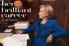 """December 2009: Hillary Clinton appears in """"Vogue.""""   20 Years Of Anna Wintour In Politics"""