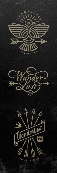 Wanderlust Logos by Jared Jacob of Sunday Lounge